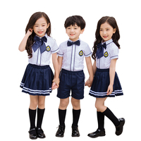Customized Boys And Girls Summer Primary School Uniform Set Fashion Kids School Uniforms