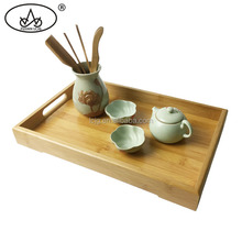 High quality wholesale bamboo gongfu tea tray set