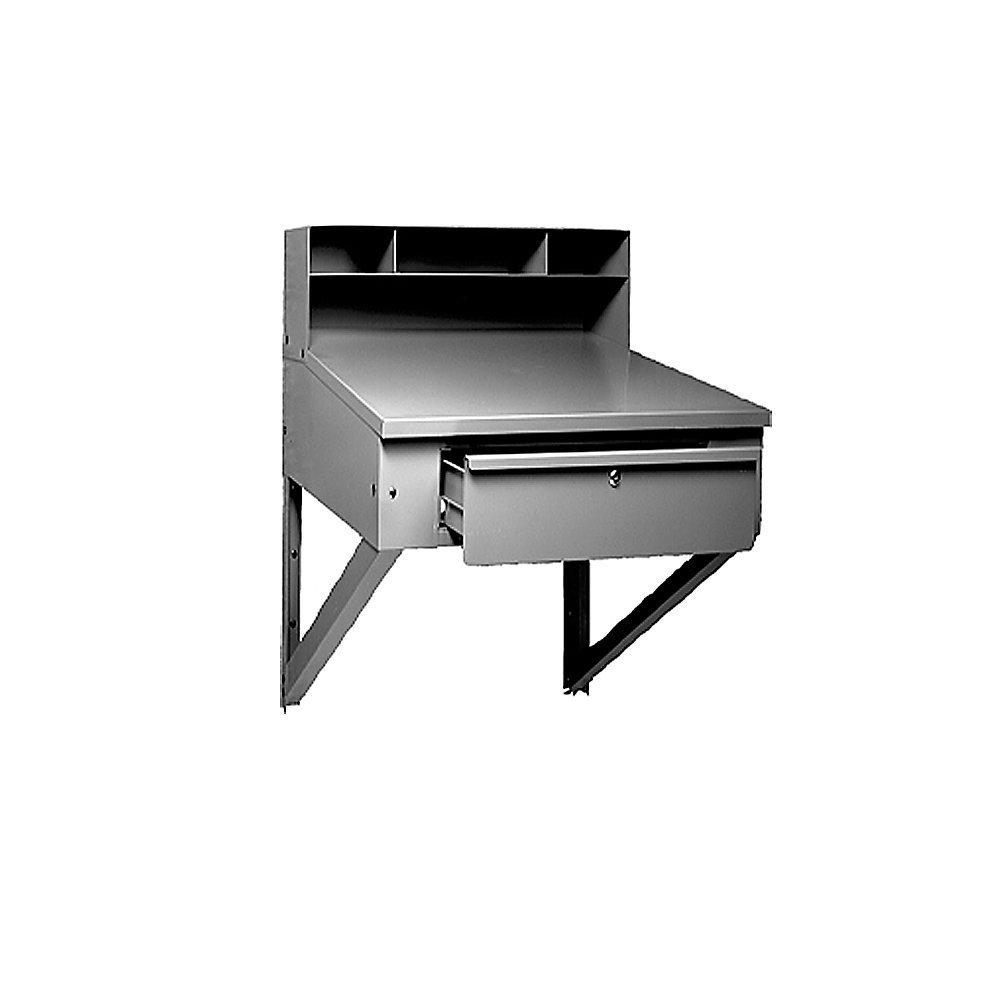 """Tennsco Wall-Hung Shop Desks - 34.5""""Wx29""""Dx33.75""""H - Gray"""