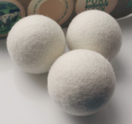 Wool Laundry Dryer Ball Premium Reusable Natural Anti Static Fabric Softener Gift Set Tool