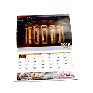 Hot sale 2019 wall calendar with punch hole for advertising