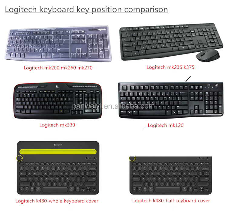 Keyboard Cover Protector Skin For Logitech Mk235 K235 K375 - Buy Keyboard  Cover For Logitech Mk235,For Logitech K235 Keyboard Protector,For Logitech
