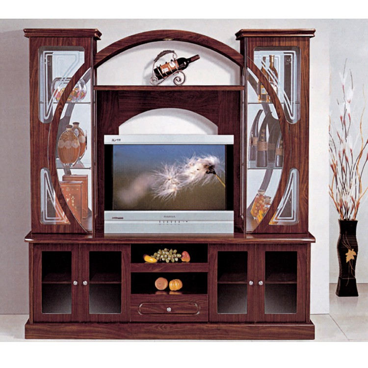 Latest European Designs Tv Stand 834 Cabinet With Display Shelf Simple Wooden Furniture Wall Units