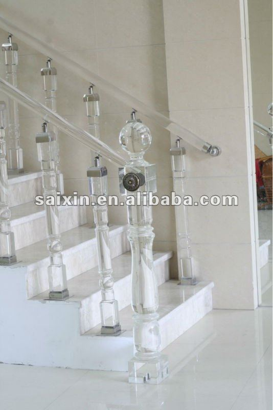 Crystal stair column home decor and hotel decoration
