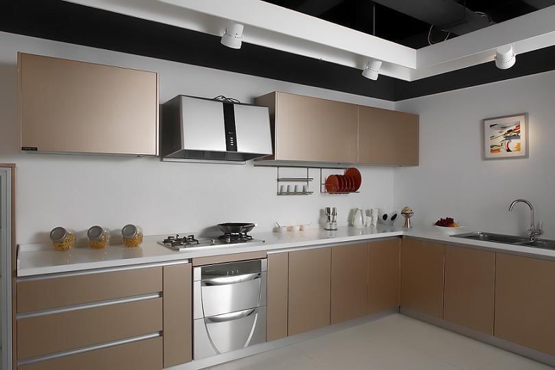 modern and elegant acrylic kitchen cabinets - modular kitchen