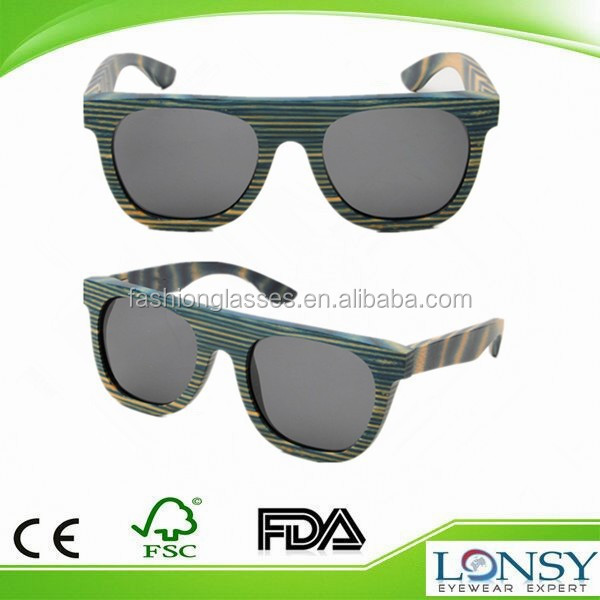 Name brands oem wooden bamboo sunglases for men with bamboo case