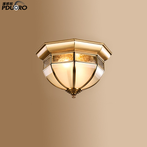 LX6008S Wholesale Popular luxury decorative Double Metal Shade Ceiling Light Modern Ceiling Lamp