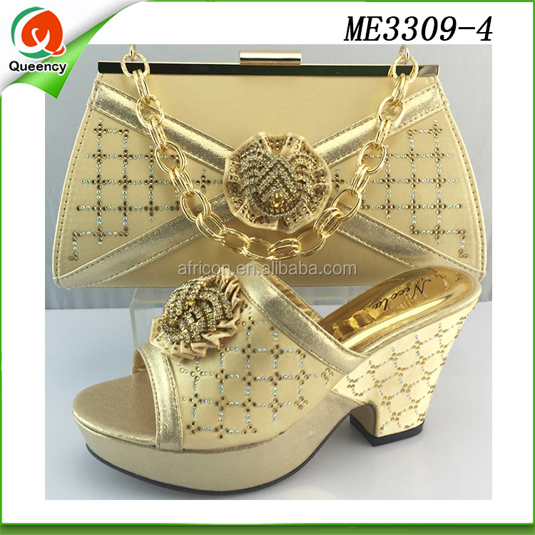 italian and for low woman gold shoe shoes ladies shoes wedge heels set bag qIEIaAHFwx