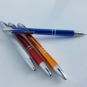 Special Advertising Promotional plastic painting plastic aluminium 2 rings pen for gift