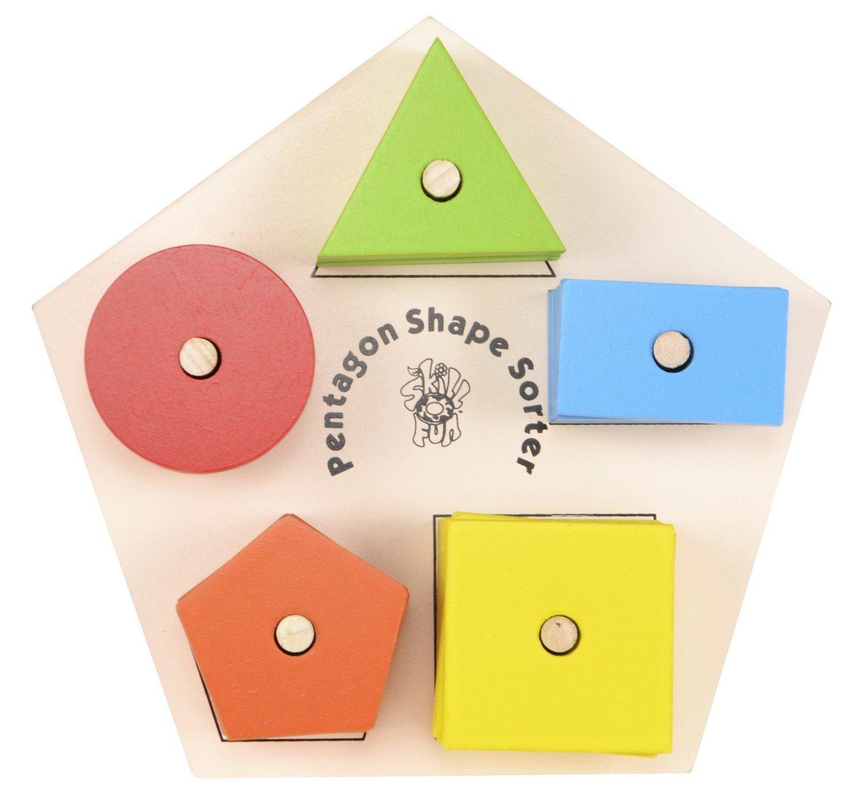 592ff88ca9df Get Quotations · Skillofun Pentagon Shape   Color Sorter Puzzle Tray