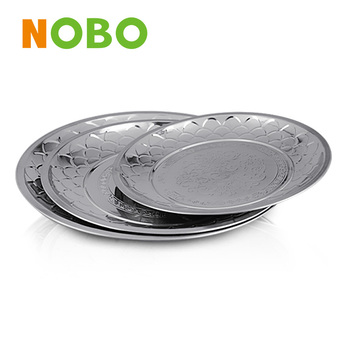 Eco-Friendly Feature stainless steel dining plate set for 32-80cm