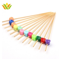 Decoration Natural Wholesale Fruit Stick cute design bamboo sticks skewer fruit cocktail picks