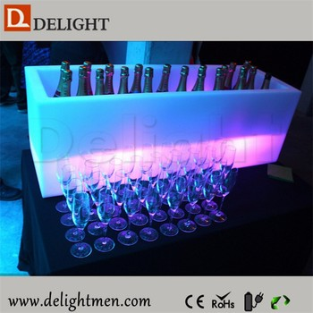Lighting Up Outdoor Electric Portable Party Cooler/ Ice Chest Cooler/LED Ice  Cube Long