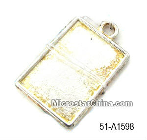 Jewellry finds rectangle pendant
