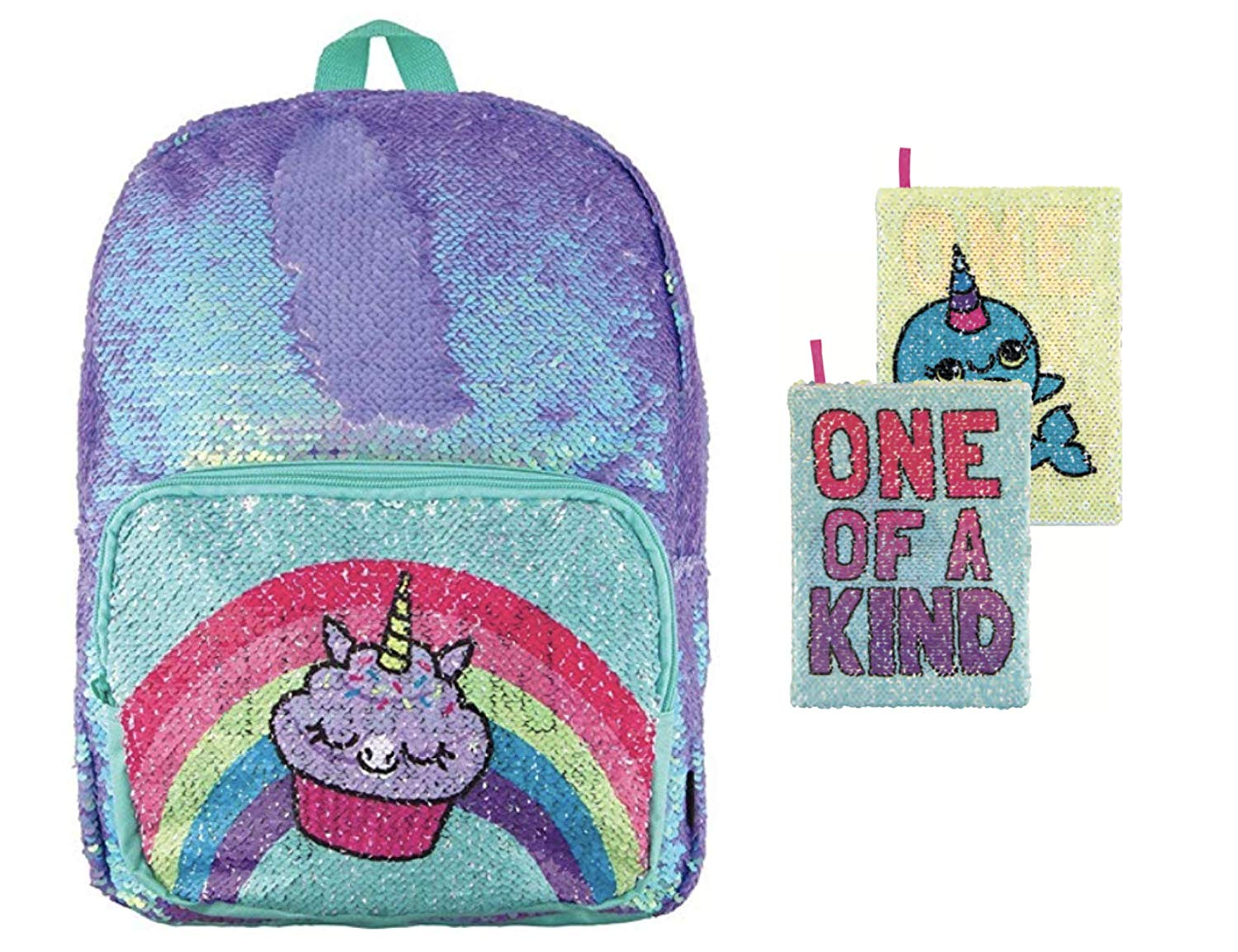 Style.Lab Magic Sequin Cupcake/Unicorn Backpack + Narwhal Sequin Reveal Journal!