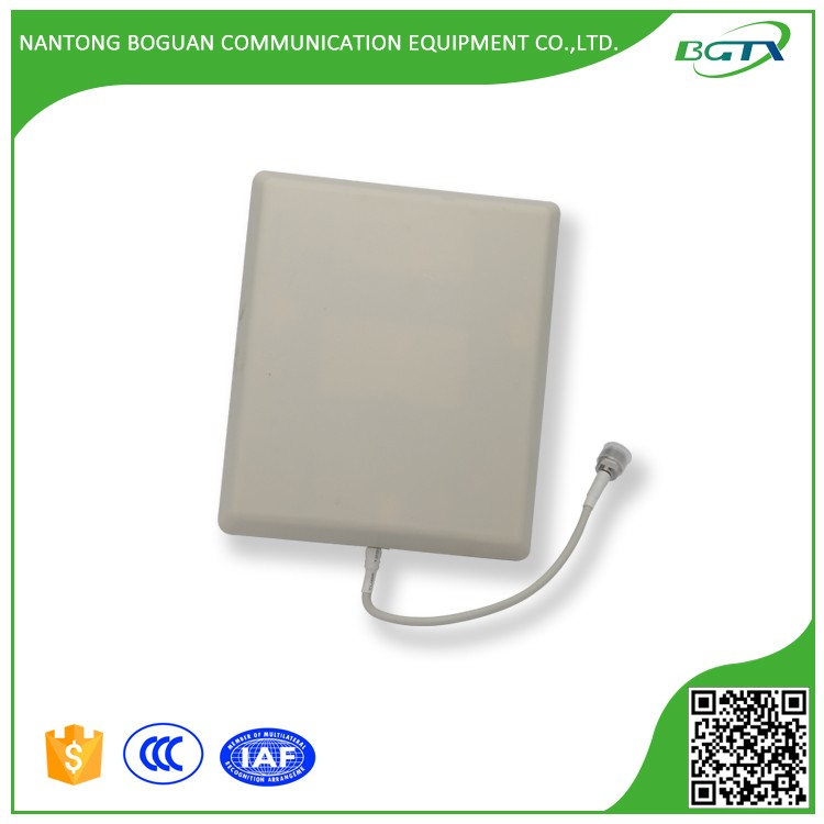 Indoor wifi 800~2500MHz 6.5~8dBi wall mount polar panel patch antenna with RF female connector