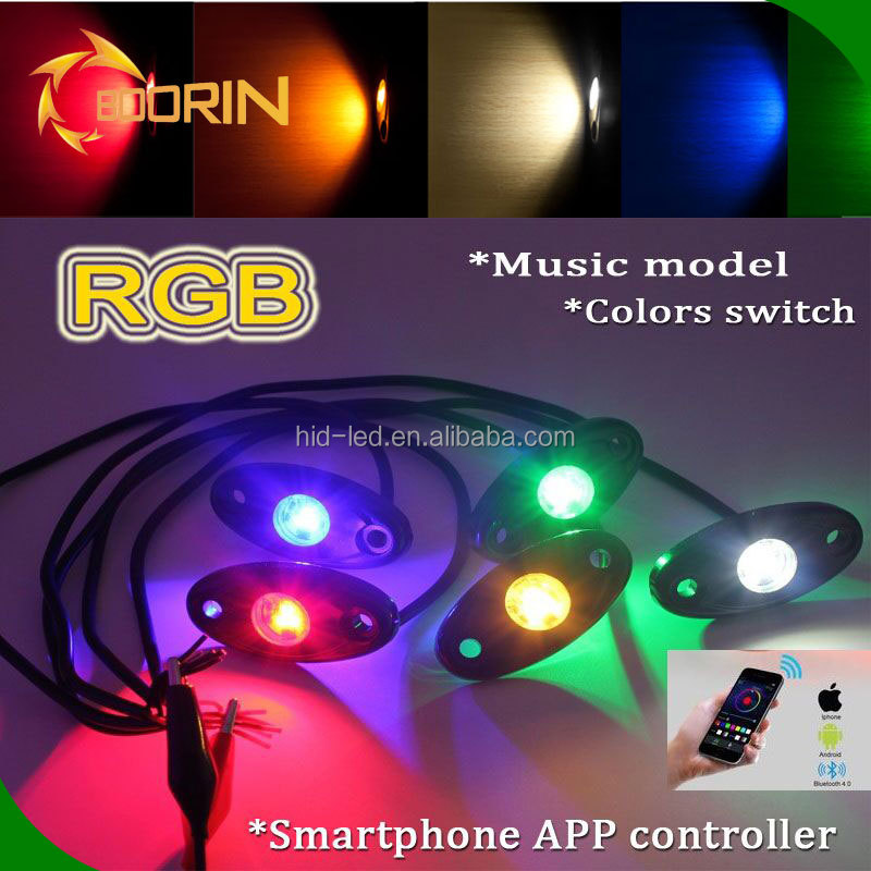 wholesale high power 36w 54w 72w 108w rgb bluetooth control red white green white orange music rock light boat car led light