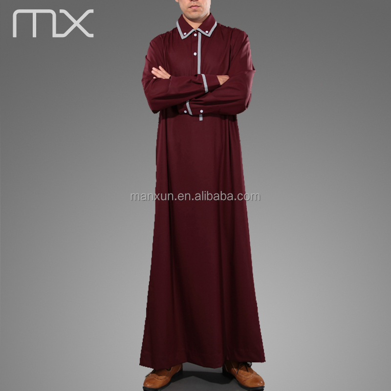 2015 Muslim Men Thobe Hot Sales In Europe New Style Polo Robe ...