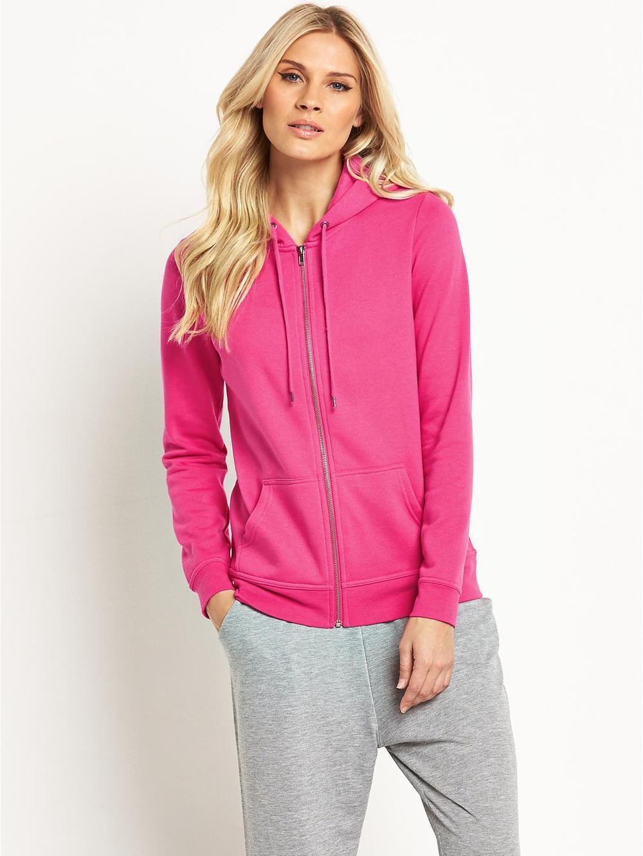 Women Rose Red Sweatshirts Zip Up With Hoodies - Buy Rose Red ... bfe7c6806d