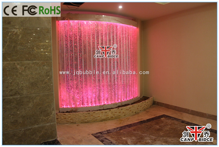 Hotel Spa Interior Decorations Led Water Feature Privacy Partitions ...