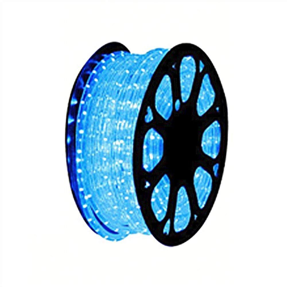 Cheap blue led rope lights 120 volt find blue led rope lights 120 get quotations novel home tech 120v ul listed 26ft 2 wire led heavy duty bright blue aloadofball Images