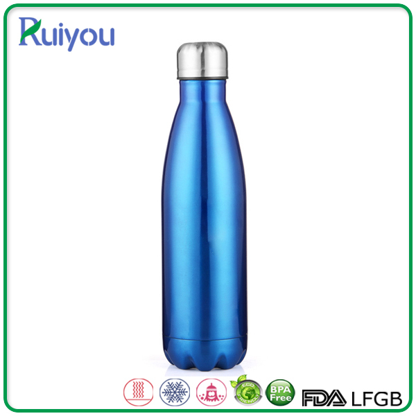 Free Sample non-toxic 17OZ insulated water bottle cola shaped