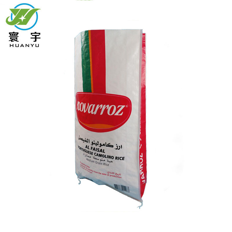 Gerecycled plastic pp geweven aangepaste pakket lege 25 kg zak rijst