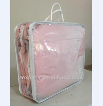 Factory Price Whole Clear Pvc Bedding Storage Bag Blankets Ng