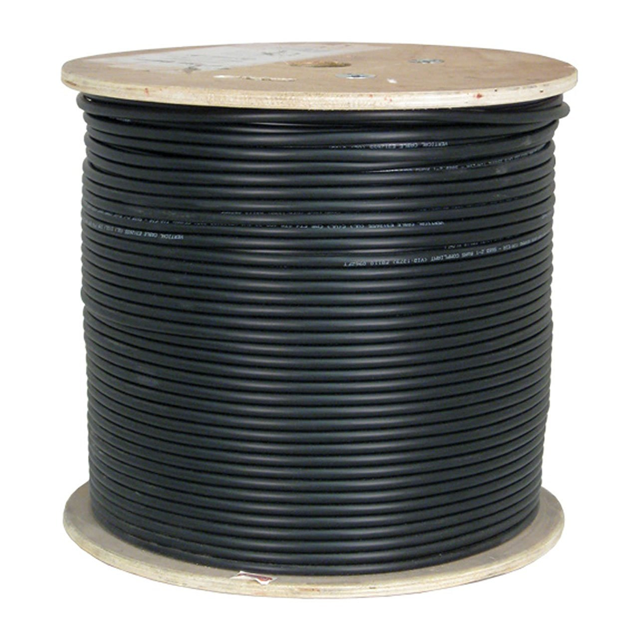 Vertical Cable Cat6, UTP, UV Jacket, Outdoor, CMX, 1000ft, Black, Bulk Ethernet Cable