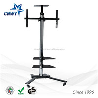 Mobile TV Cart Tripod Stand 360 Rotation Portable Universal for 32 to 70 inch Flat Panel Screens LED LCD OLED Plasma