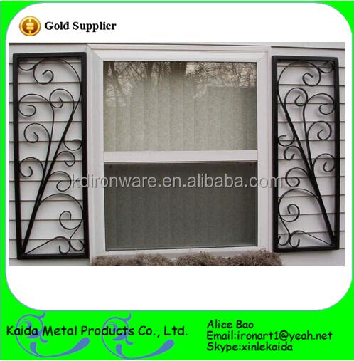 Beautiful Ornamental Wrought Iron Door Window Grill Design