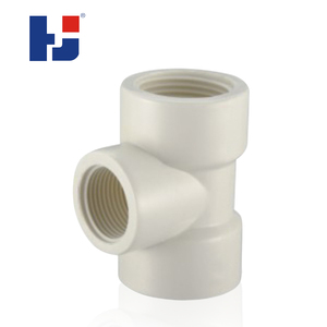Best price UPVC BS thread water system pipe fitting threaded female reducing tee