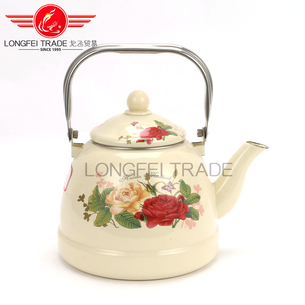 Novel Colored Pot Of 2.5L The Enamel Tea Kettle Non Electric Stainless