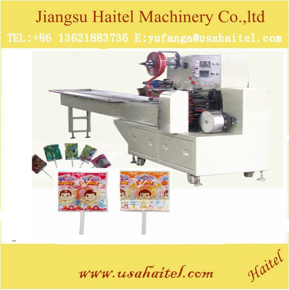Irregular lollipop candy die forming and packing machine