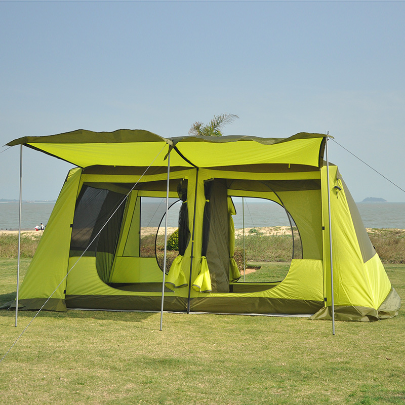 Two Bedroom One Hall Tent Outdoor 5 8 Persons Two Layer