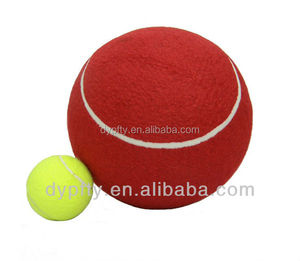 good quality large inflatable jumbo tennis ball for funs signature