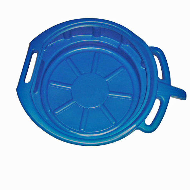 Round oil drain pan with handle with high capacity
