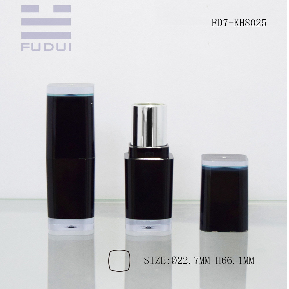 wholesale elegant black square cosmetic plastic lipstick/lipgloss