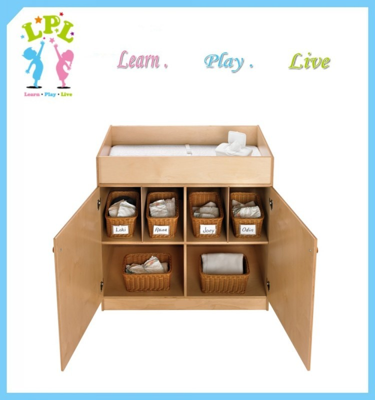 eco friendly plywood diaper change cabinet with doors nursery furniture changing table