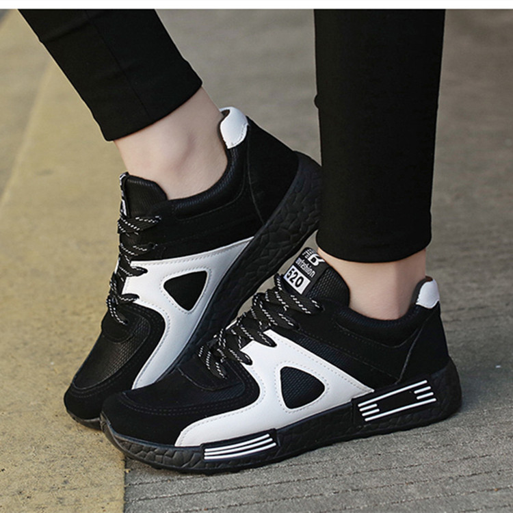 2018 Spring and autumn breathable sports shoes female wild casual flat running shoes
