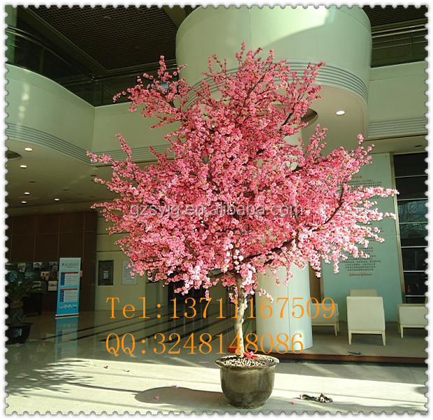plastic artificial peach blossom tree / artifiical indoor&outdoor decoration tree / fake peach tree for decoration