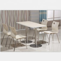 4 person fast food furniture dining table and chair/restaurant tables chairs