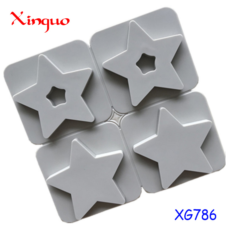 786 factory stock 4 cavity star shape, Gypsum aromatherapy tablet,silicone cake tool. silicone candle molds