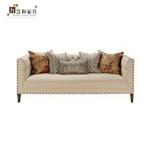 Custom 2017 Couches-Living Room Furniture Sofa Set,Cream Chesterfield Fabric Sofa