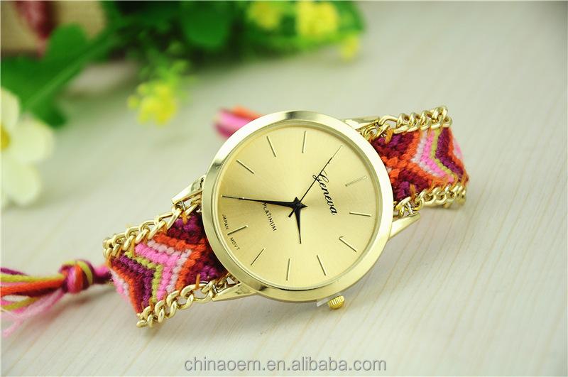 Real Photo Korea Gürtel Seil Flechten Frauen Kleiden Armbanduhren 7 Farben Damen Armband Gewebt Seil Uhr Spaltleder Band Buy Genf Uhren,Armband