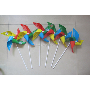 plastic mini solar sunflower windmill for promotion gift