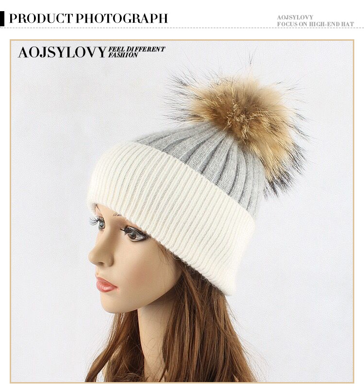 High Quality China Factory Custom 30% wool 70% acrylic Beanie Fashion Winter Hat