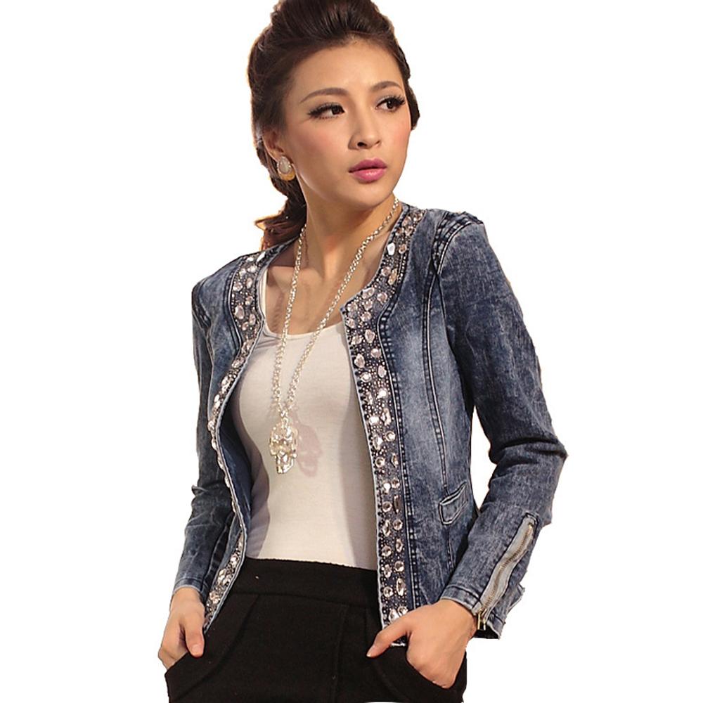 Compra chaqueta con pedrería online al por mayor de China