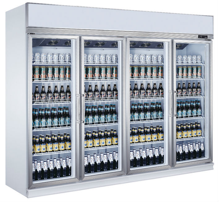 4 Door Upright Chillerglass Beverage Showcaseused Glass Door