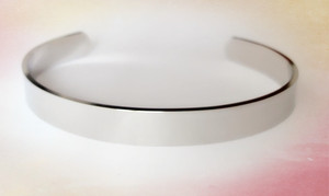Wholesale High quality blank stainless steel plain cuff bangle bracelet